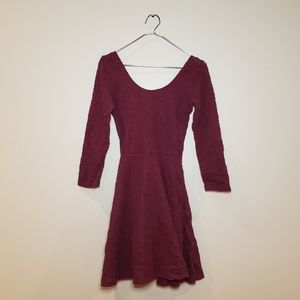 Abercrombie Burgundy Lace Dress